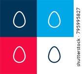 egg outline four color material ...