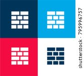 bricks layout four color...