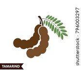 tamarind icon vector... | Shutterstock .eps vector #796003297