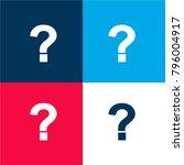 question sign four color...