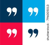 right quotes symbol four color...