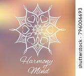 hand drawn mandala design... | Shutterstock .eps vector #796006693