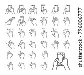 touch gestures icon set for a...