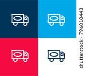 truck hand drawn transport four ... | Shutterstock .eps vector #796010443