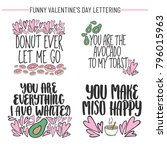 set of hand drawn funny...   Shutterstock .eps vector #796015963