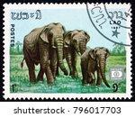 laos   circa 1987  a stamp...   Shutterstock . vector #796017703