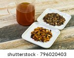 close up view of a herbal tea... | Shutterstock . vector #796020403