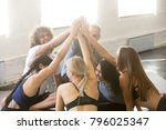 group of young sporty people... | Shutterstock . vector #796025347