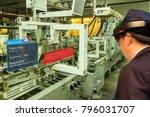 iot smart industry 4.0 concept. ... | Shutterstock . vector #796031707
