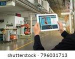iot industry 4.0 concept... | Shutterstock . vector #796031713