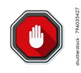 hand block ads sign illustration