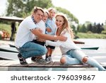 happy four member family of... | Shutterstock . vector #796039867