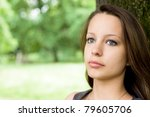 romantic emotional portrait of... | Shutterstock . vector #79605706
