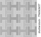 seamless surface pattern design ... | Shutterstock .eps vector #796063657