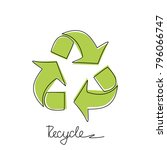 triangular recycling symbol on... | Shutterstock .eps vector #796066747