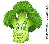 cartoon broccoli. green flower... | Shutterstock .eps vector #796068823