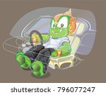 thai giant driver action and... | Shutterstock .eps vector #796077247