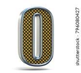 chrome metal orange dotted font ... | Shutterstock . vector #796080427