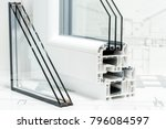 a cross section of window... | Shutterstock . vector #796084597