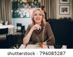 beautiful smiling blonde woman... | Shutterstock . vector #796085287