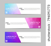 set of banners from the polygon ... | Shutterstock .eps vector #796091773