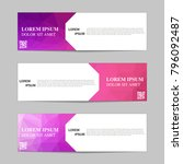 set of banners from the polygon ... | Shutterstock .eps vector #796092487