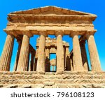 temple of concordia in famous... | Shutterstock . vector #796108123