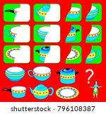 logic exercise for children.... | Shutterstock .eps vector #796108387
