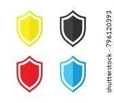 shield vector icon  | Shutterstock .eps vector #796120393