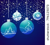 christmas background with... | Shutterstock . vector #796125073