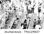 motion escalators at the modern ... | Shutterstock . vector #796129837