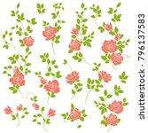 rose flower illustration  | Shutterstock .eps vector #796137583