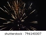 fireworks night colors | Shutterstock . vector #796140307