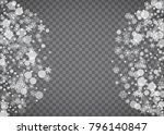 blizzard snowflake on... | Shutterstock .eps vector #796140847
