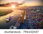 logistics and transportation of ... | Shutterstock . vector #796142437
