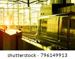 train departing from the... | Shutterstock . vector #796149913