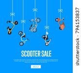scooter sale advertising with... | Shutterstock .eps vector #796153837
