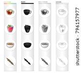 herbal tea  berry jelly ...   Shutterstock .eps vector #796157977