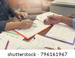 business and finance concept of ... | Shutterstock . vector #796161967