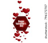 design of valentine day... | Shutterstock .eps vector #796172707