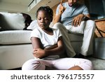 father disciplining his daughter   Shutterstock . vector #796175557