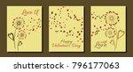 dandelion flowers valentine... | Shutterstock .eps vector #796177063