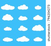 clouds icon set. different... | Shutterstock .eps vector #796204273