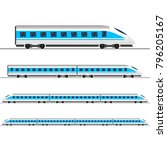 train. modern passenger express ... | Shutterstock .eps vector #796205167