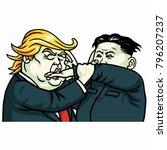 donald trump versus kim jong un ... | Shutterstock .eps vector #796207237