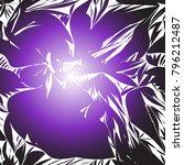 ultra violet dynamic silhouette ...   Shutterstock .eps vector #796212487