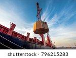 general bulk heavy lift ship in ... | Shutterstock . vector #796215283