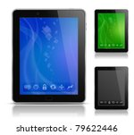 tablet pc with abstract... | Shutterstock .eps vector #79622446