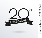 20 years anniversary logo with... | Shutterstock .eps vector #796225663
