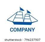 blue ship travel transportation ... | Shutterstock .eps vector #796237507